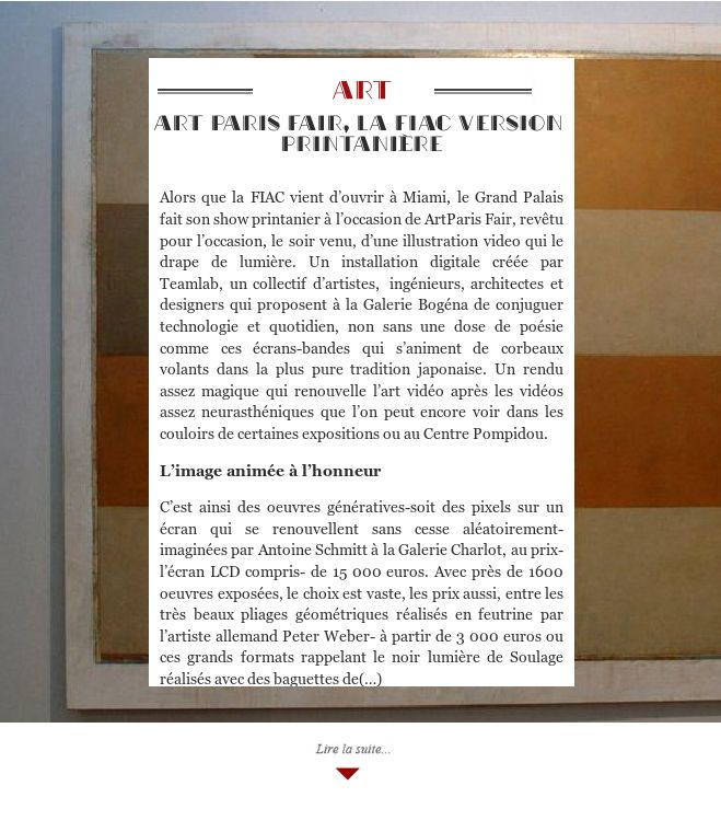 Art Paris Fair, la FIAC version printanière