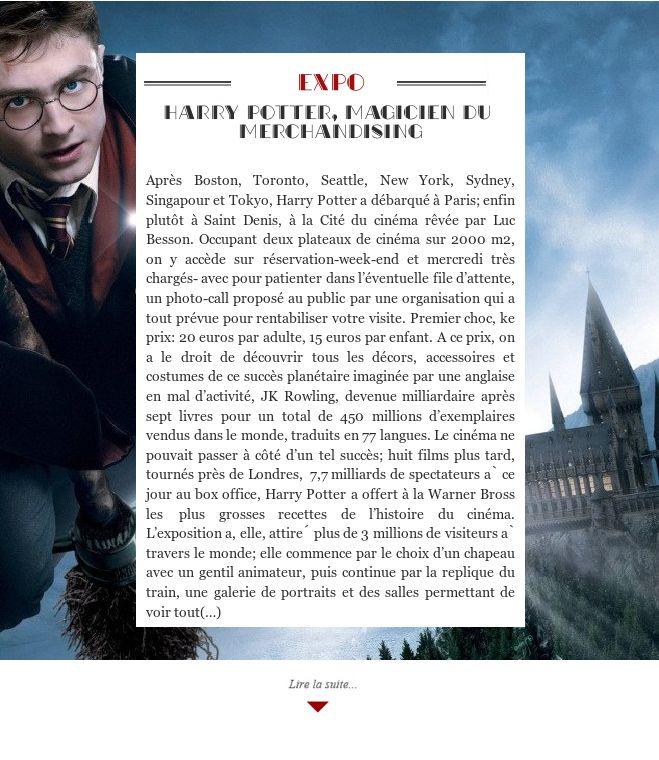 Harry Potter, magicien du merchandising