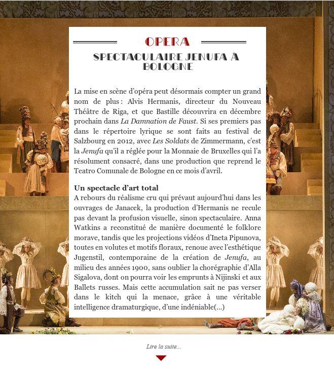 Spectaculaire Jenufa à Bologne