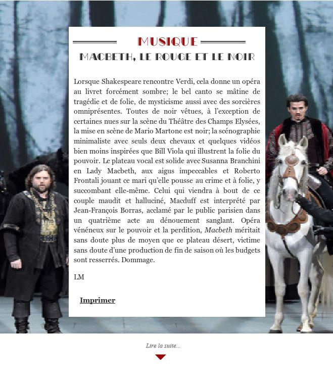 Macbeth, le rouge et le noir