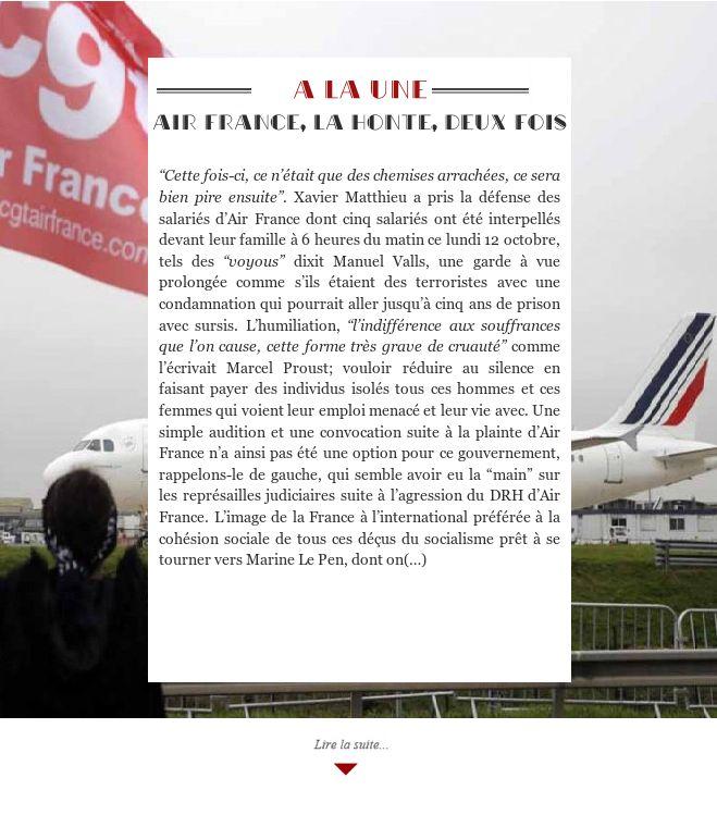 Air France, la honte, deux fois