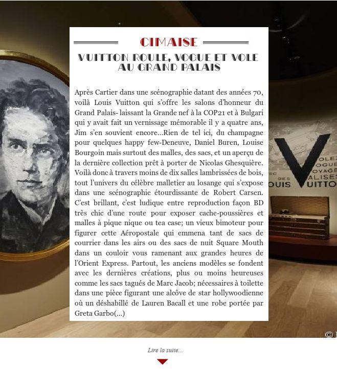 Vuitton roule, vogue et vole au Grand Palais