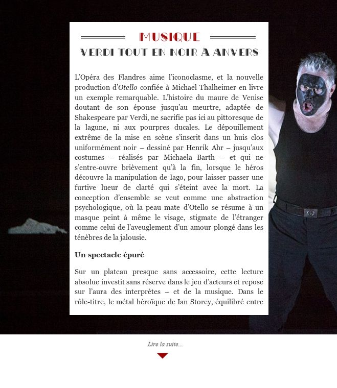 Verdi tout en noir à Anvers