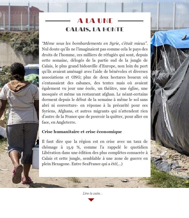 Calais, la honte