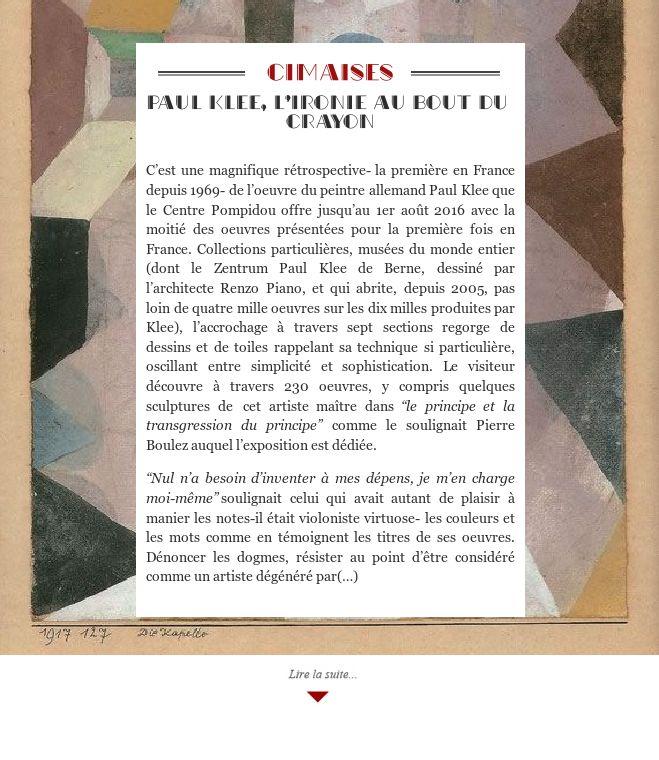 Paul Klee, l'ironie au bout du crayon