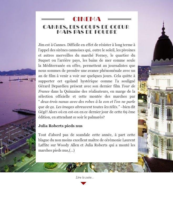 Cannes, des coups de coeur mais pas de foudre