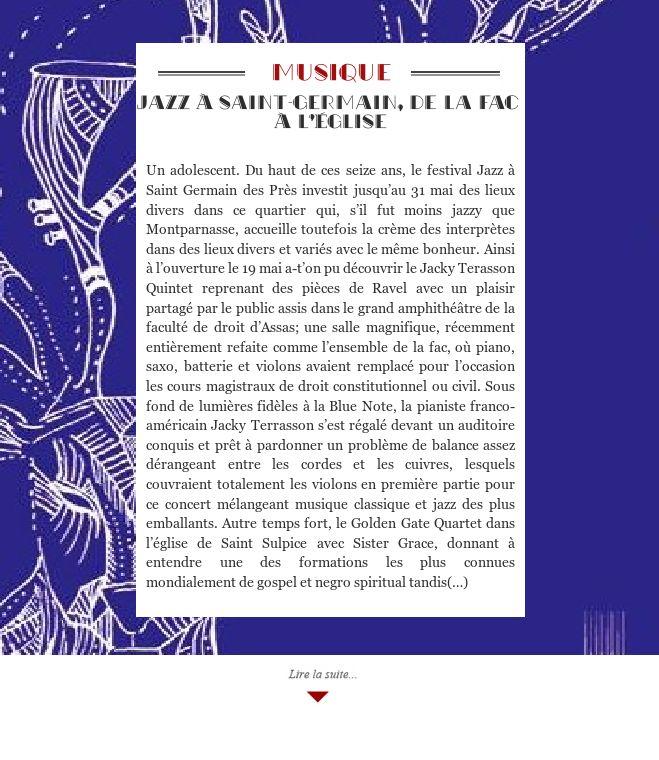 Jazz à Saint-Germain, de la fac à l'église
