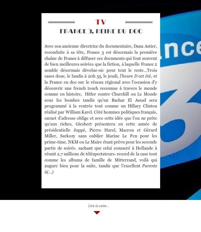 France 3, reine du doc