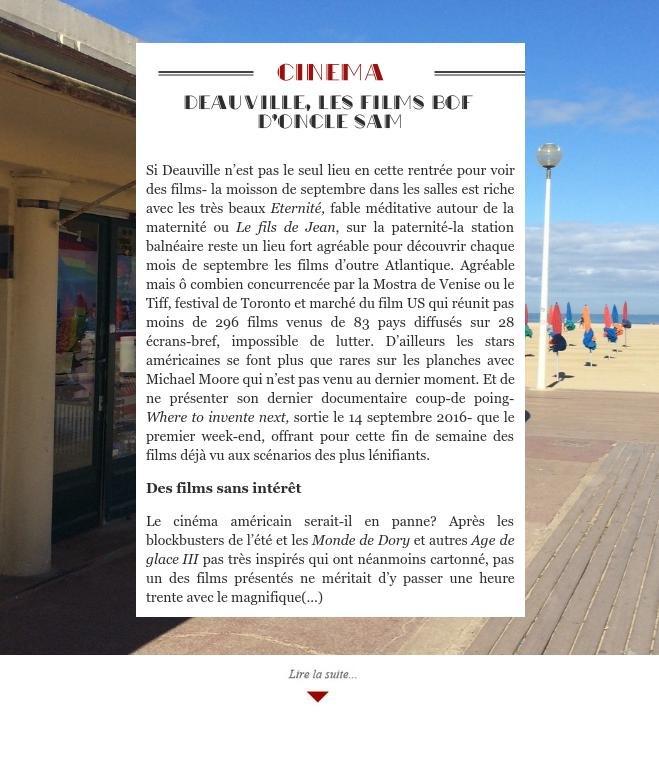 Deauville, les films bof d'oncle Sam