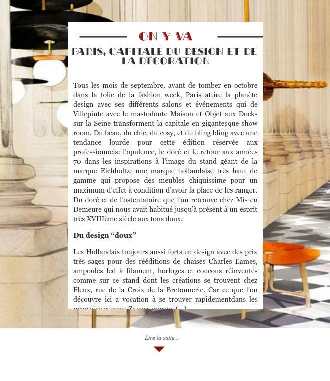 Paris, capitale du design et de la décoration