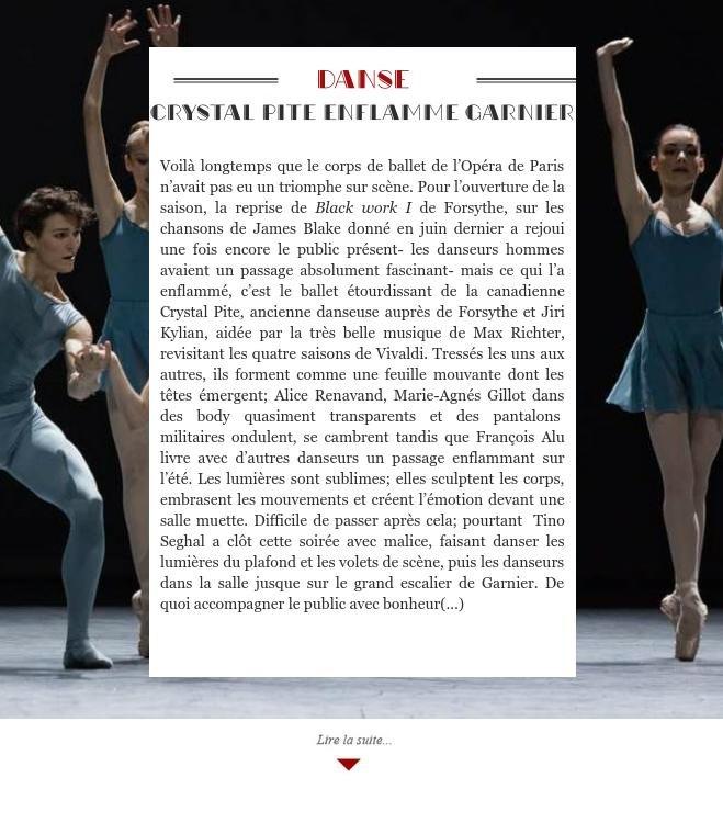 Crystal Pite enflamme Garnier