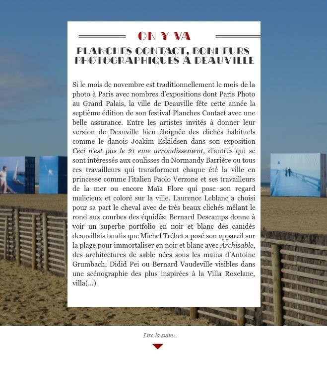 Planches contact, bonheurs photographiques à Deauville