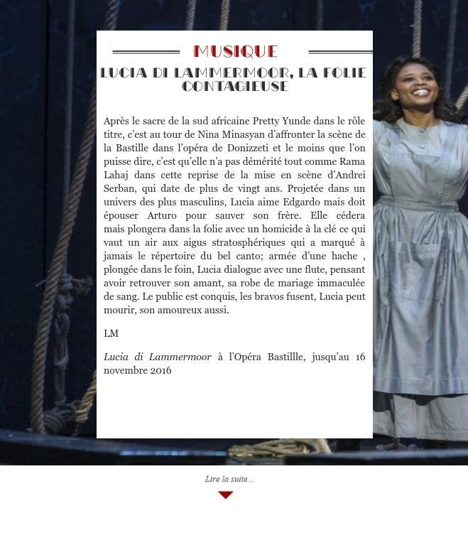 Lucia di Lammermoor, la folie contagieuse
