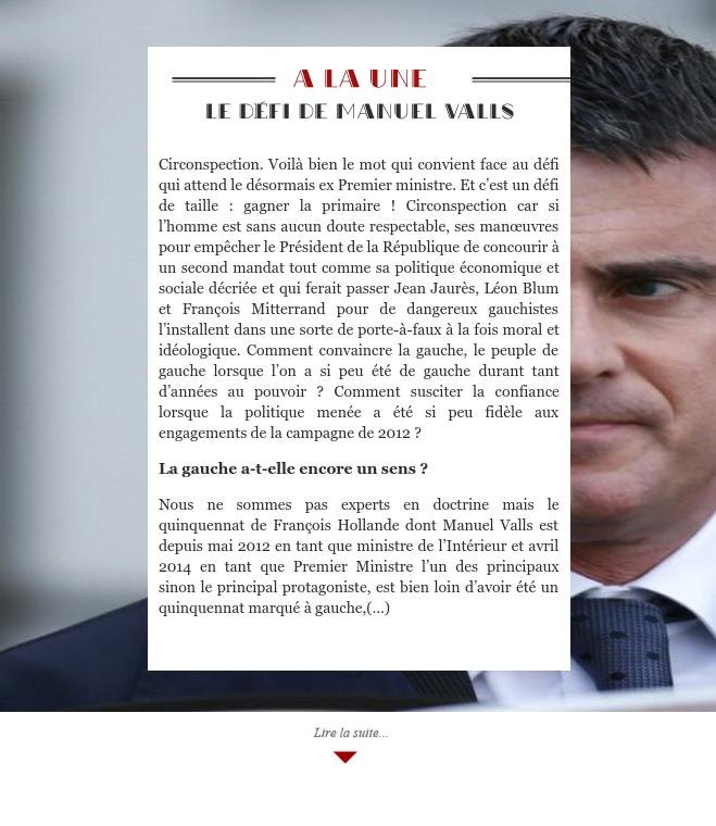 Le défi de Manuel Valls