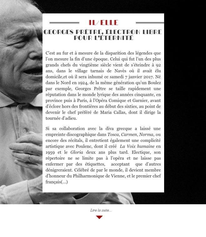 Georges Prêtre, électron libre pour l'éternité