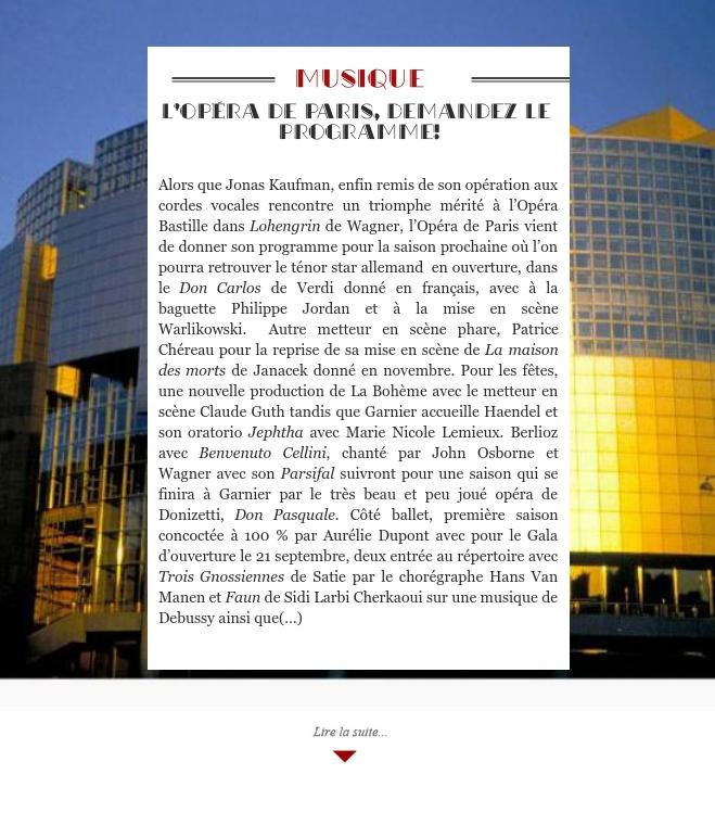 L'Opéra de Paris, demandez le programme!