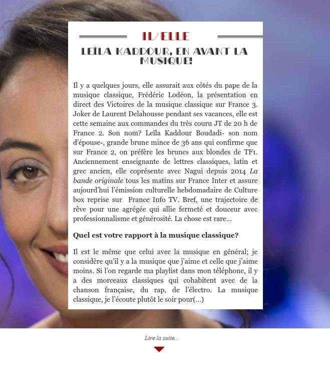 Leïla Kaddour, en avant la musique!