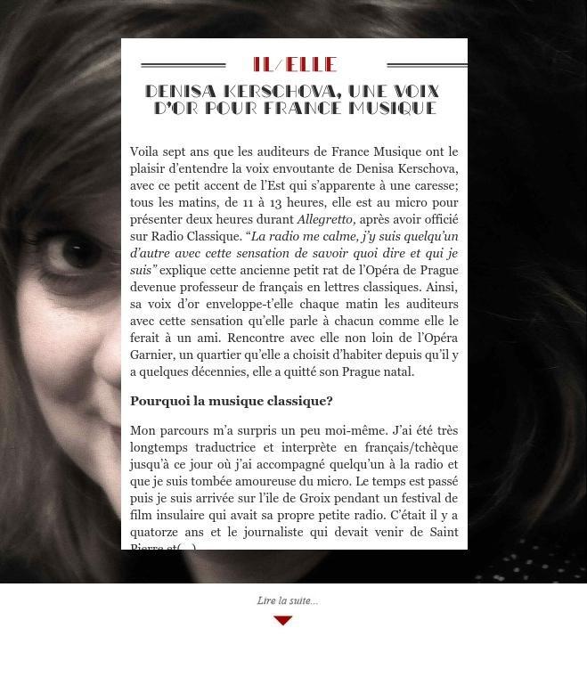 Denisa Kerschova, une voix d'or pour France Musique