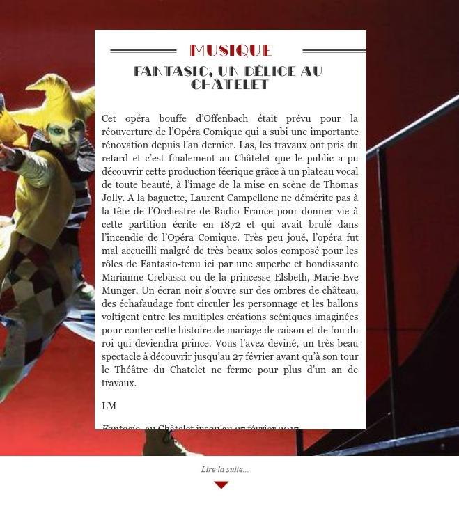 Fantasio, un délice au Châtelet