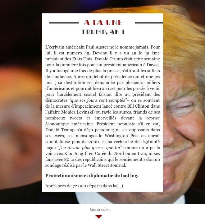 Trump, an I