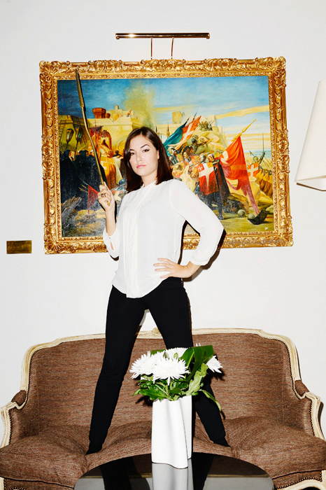 Sasha Grey, Paris, Hôtel D'Aubusson, 30 septembrel 2013.
