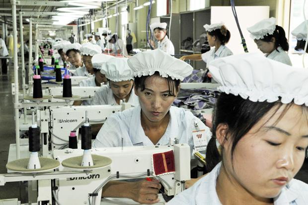 La zone industrielle de Kaesong pres de la DMZ en Coree