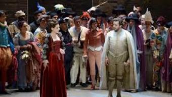 Aimable soirée à l'opéra comique