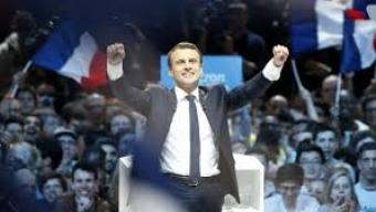 Macron, star de Bercy
