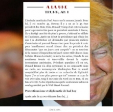 Newsletter du 27 janvier 2018